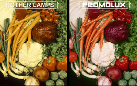 Compare vegetables under different lighting